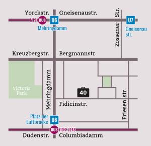 English Theatre Berlin, Main Stage + Studio Fidicinstrasse 40, 10965 Berlin: U6 + Bus 104, 248 Platz der Luftbrücke and Bus M19 Mehringdamm